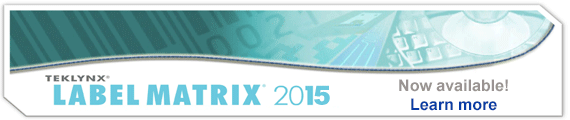 LABEL MATRIX 2015 has been released, print barcode label
